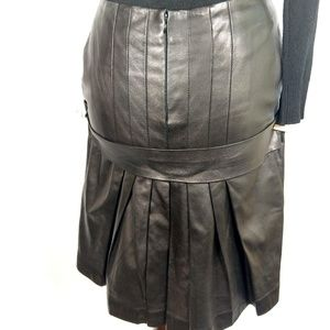 Jean Paul Gaultier Femme leather bustle skirt M/L